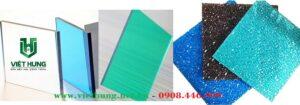 Tấm polycarbonate đặc ruột trơn và dạng sần
