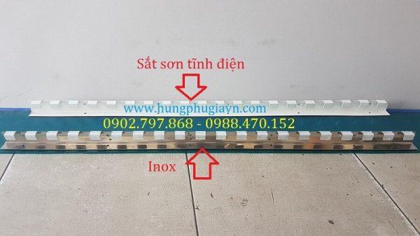 Thanh treo Rèm nhựa PVC sắt sơn tĩnh điện và Inox