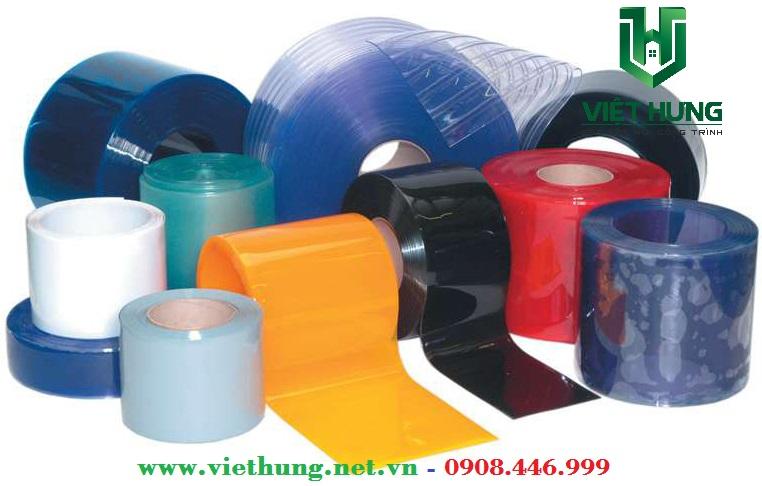 Màu sắc Rèm nhựa PVC xanh dương, vàng cam, trắng trong, trắng đục, màu đỏ, đen