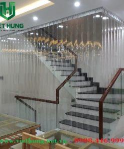 Rèm nhựa pvc ngăn lạnh cầu thang