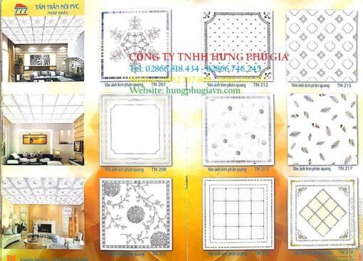 Bảng Màu Tấm la Phông Nhựa 600x600
