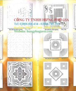Bảng màu tấm trần nhựa hoa văn 60x120