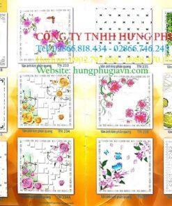 Bảng màu tấm la phông nhựa thả 60x120 giá rẻ tại Tp.HCM