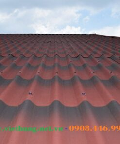 Mái tole sinh thái Onduline Tile 3D màu đỏ