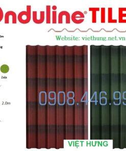 Bảng màu tấm lợp sinh thái Onduline Tile 3D
