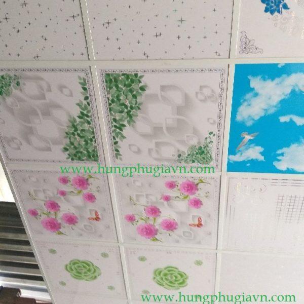 Tấm trần nhựa la phông 3D 600x1200