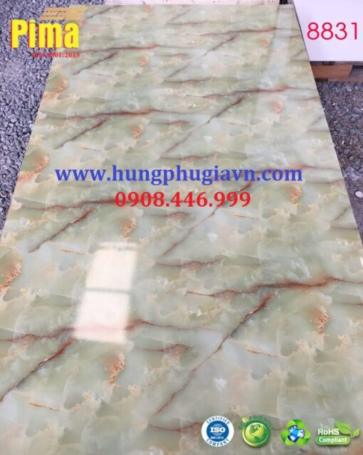 Tấm ván nhựa vân đá ốp tường pvc 8831