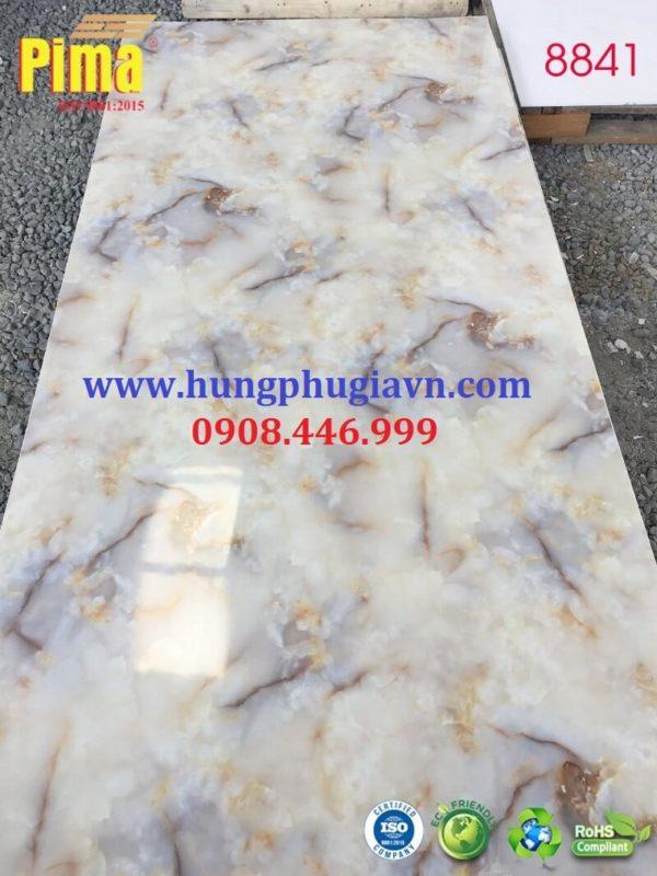 Tấm ván nhựa vân đá ốp tường pvc 8841