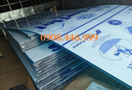 Hình ảnh tấm lợp poly đặc Solarflat Indonesia màu xanh biển Tosca 3mm
