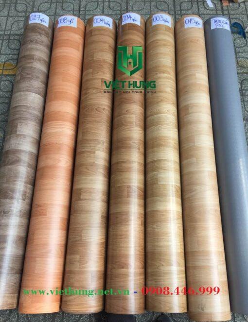 Bảng màu simili trải sàn chống cháy 1.2mm công ty Việt Hưng HCM