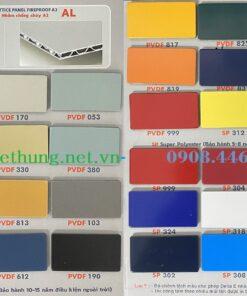 Bảng mã màu tấm alu triều chen ngoài trời PVDF