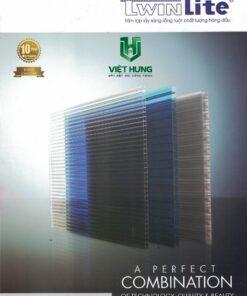 Bảng màu tấm lợp lấy sáng polycarbonate Twinlite Indonesia Bh 10 năm