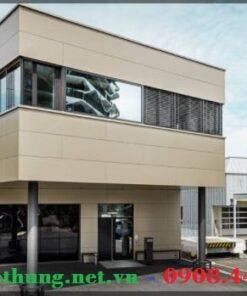 Trang trí ốp mặt tiền nhà bằngTấm ốp nhôm nhựa Alu