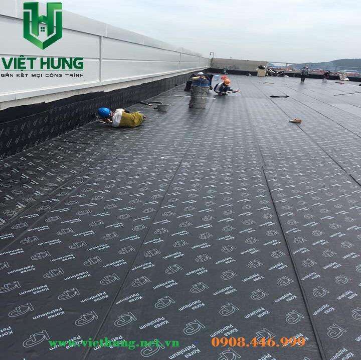 Giấy dầu chống thấm tự dính Hàn Quốc cho mái tôn, sàn bê tông