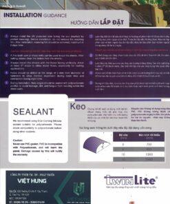 Hướng dẫn lắp đặt tấm lợp poly Twinlite Indonesia