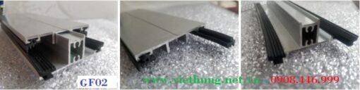 Phụ kiện nẹp tấm Polycarbonate Profile ron cao su GF02
