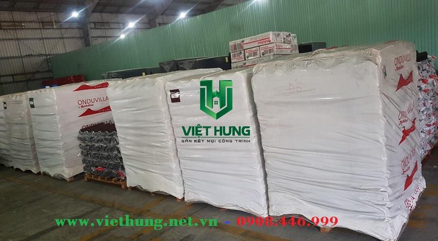 Kho hàng tấm ngói pháp Onduvilla công ty Việt Hưng