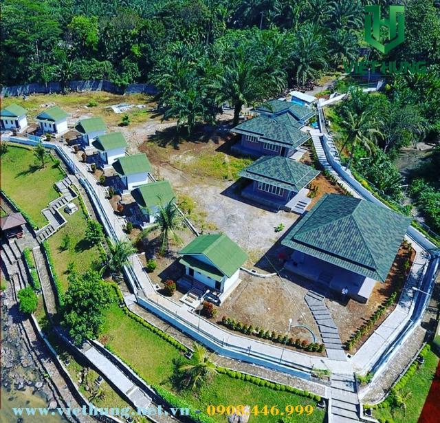 Tấm lợp sinh thái ngói pháp Onduvilla lợp khu du lịch