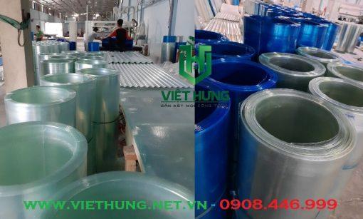Kho hàng cuộn tôn nhựa lấy sáng phẳng| Tôn nhựa Composite Sợi thủy tinh Việt Hưng