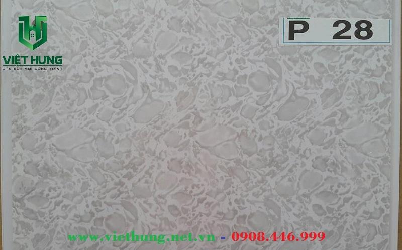 Tấm trần nhựa dài bản 25cm P28
