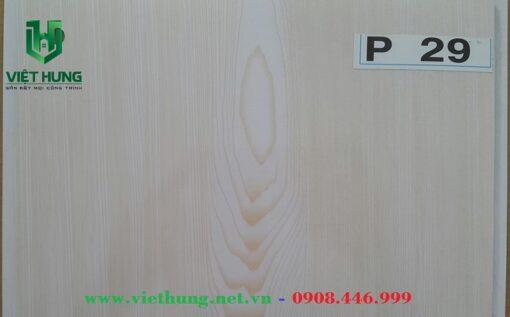 Trần nhựa dài bản 25cm màu P29