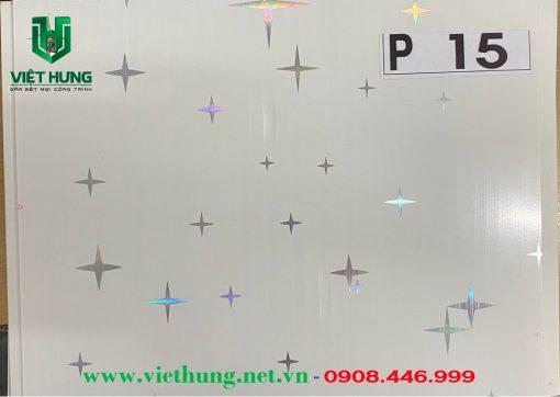 Tấm la phông trần nhựa dài bản 25cm màu P15