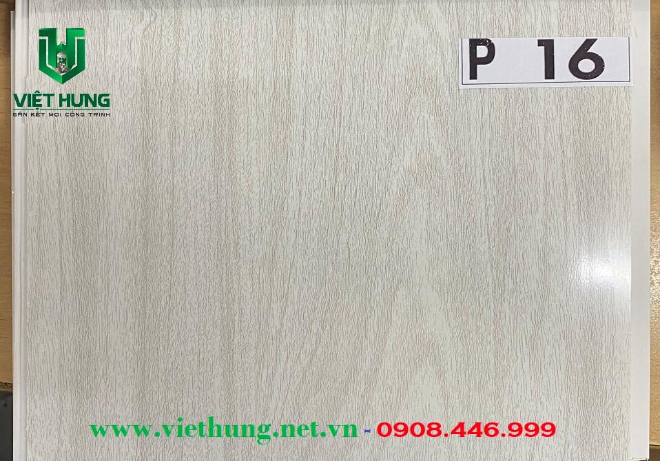 Tấm la phông trần nhựa dài bản 25cm màu vân gỗ xám P16
