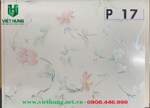 Tấm la phông trần nhựa dài bản 25cm màu hoa văn P17