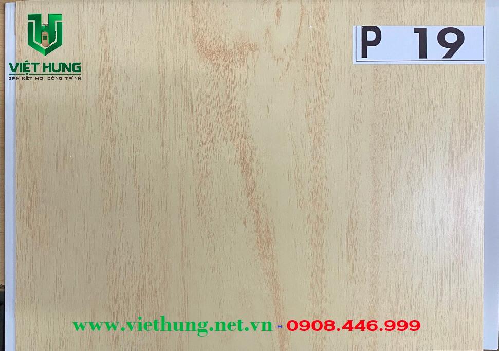 Tấm la phông trần nhựa dài bản 25cm màu vân gỗ P19