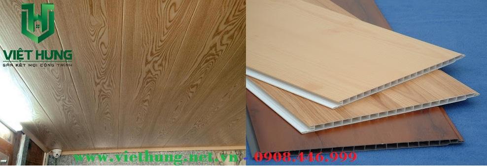 Tấm trần nhựa dài khổ 25cm màu giả gỗ