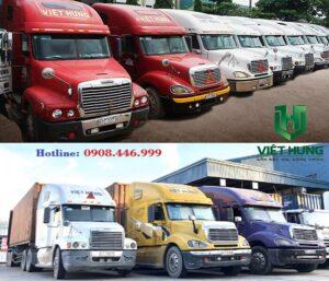 Xe vận chuyển hàng hóa công ty TNHH TM DV PT Việt Hưng